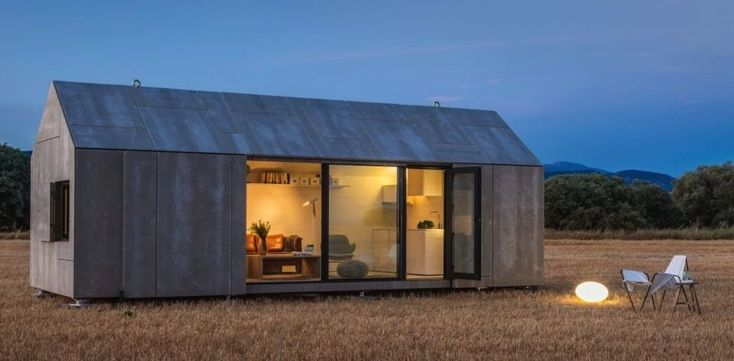 The Portable Prefab House - Minimalist, stylish, (relatively) affordable, this portable prefab has hooks allowing it to be picked up by a crane and transported by truck. Sustainable solutions such as rain water collection systems and solar panels could ensure setting up this structure in really remote locations.