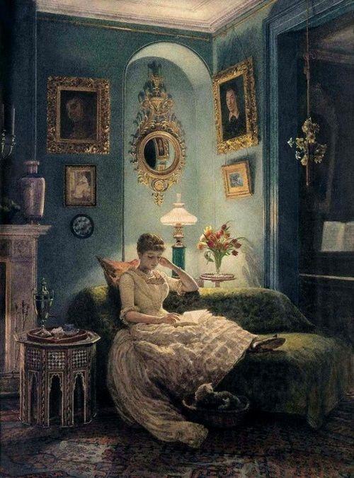 An Evening at Home by Edward John Poynter