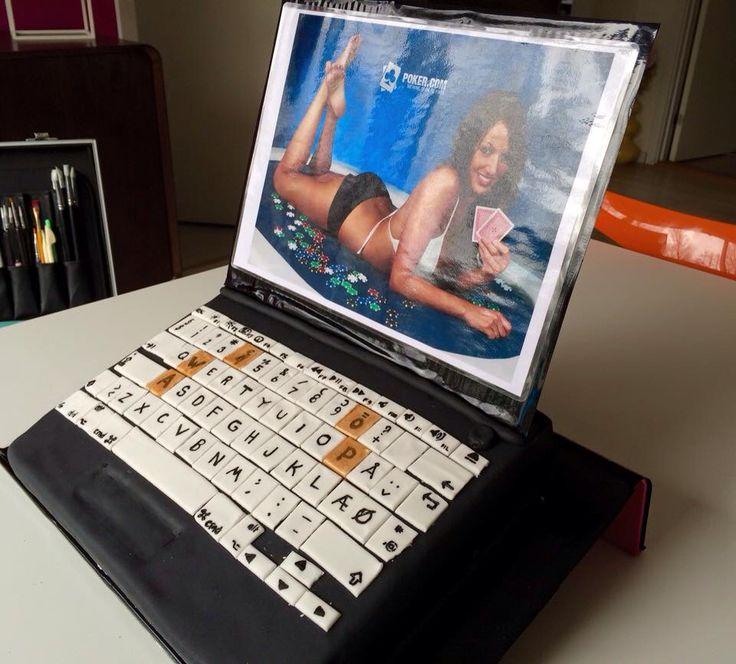 Computer cake fondant