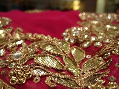 Gota patti work for anarkali suit. Want this on cream material.