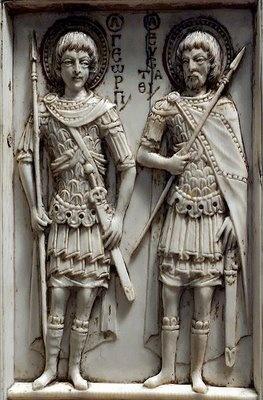 Detalle triptico de Harbaville,marfil,Museo del Louvre