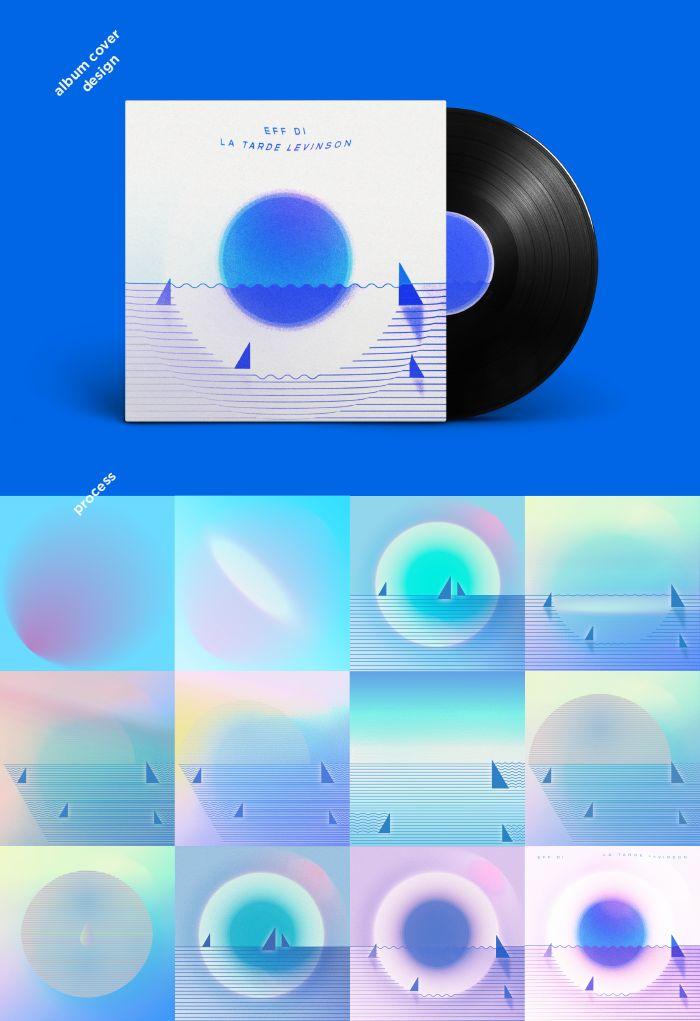 Eff Di - La tarde levinson. Album cover. 2015