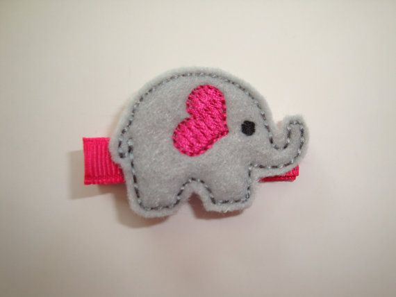 Baby Girl Hair Accessories Elephant Hair by shiningstarsboutique