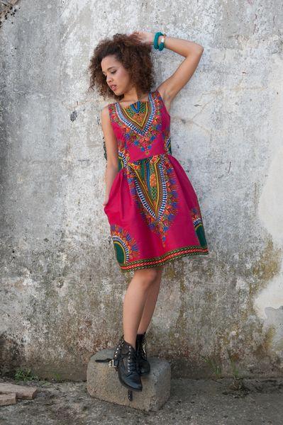Sukienka Addis Abeba fuksja