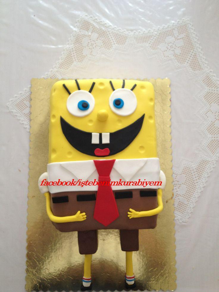 Emir'in dogum günü için yaptıgımız SpongeBob pastası :)