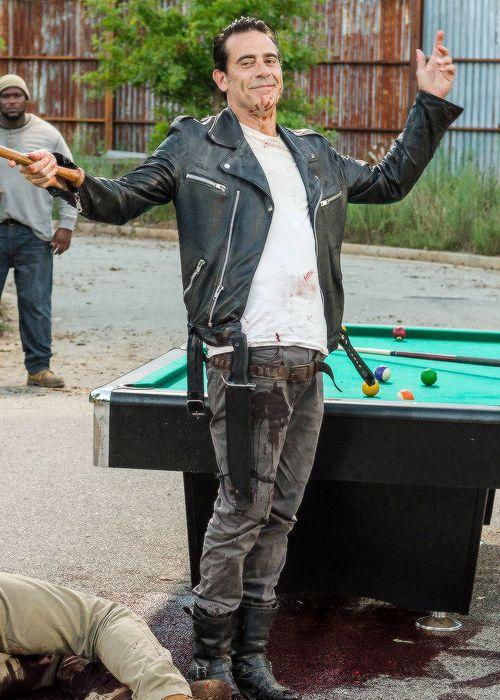"negangifs: """" Negan in The Walking Dead Season 7 Episode 8 | Hearts Still Beating "" """