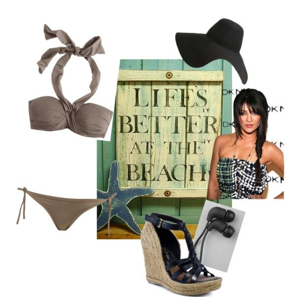 """LIFE'S A BEACH"" by rachel-obrien on Polyvore"