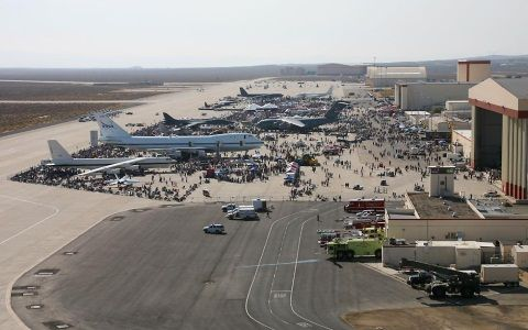 Edwards Air Force Base from SHUTTLE by David C. Onley