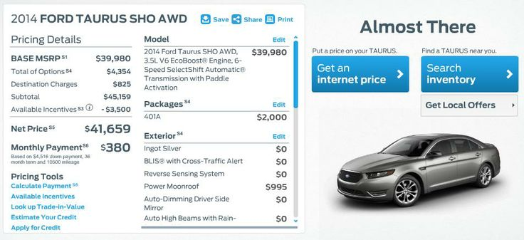 2014 Ford Taurus SHO AWD