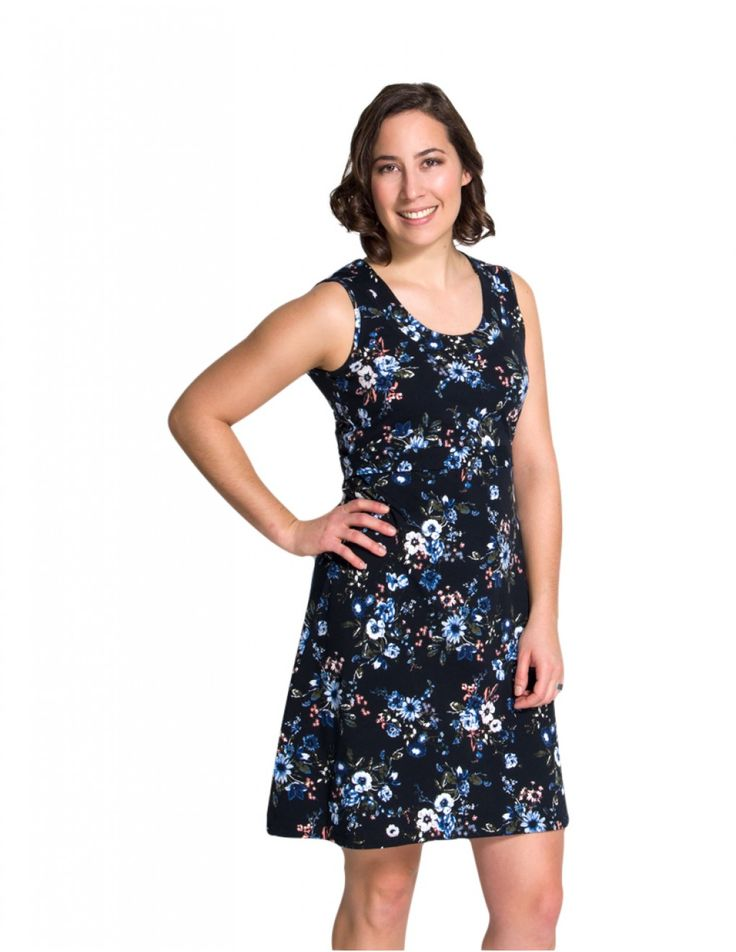 Momzelle Nursing Dress Laura - your best breastfeeding outfit for hot summer days. Enjoy the privilege of being a nursing mom!