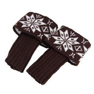 Women Knit Boot Cuffs Snow Boot Covers Short Leg Warmers Ladies Winter Boot Toppers Welt Top Bohemia Boot Socks Legwarmers