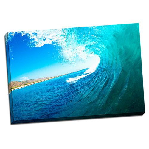 Found it at Wayfair - 'Tropical Places Wave' Photographic Print on Wrapped Canvas