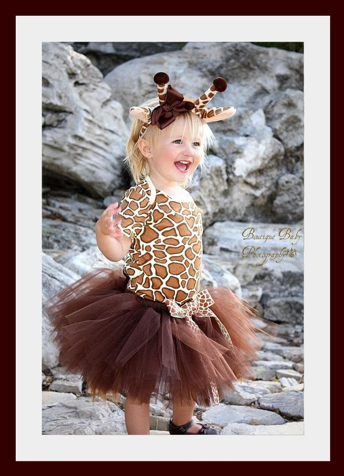 Custom Boutique Giraffe tutu set...Birthday parties...dress up...Halloween costume..Photo shoot...size  12- 18 months. $85.00, via Etsy.: