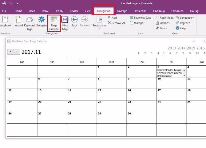 How To Create A Onenote Calendar Template Onenote Calendar