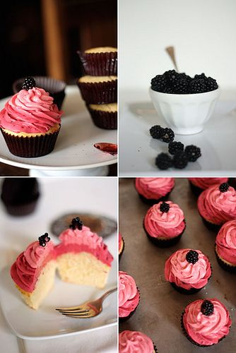 Lemon pound cake cupcakes with blackberry and raspberry buttercreams!Cupcakes Cake, Lemon Cake, Lemon Berries, Berries Cupcakes, Fun Recipe, Frostings Recipe, Buttercream Frostings, Cupcakes Rosa-Choqu, Lemon Cupcakes
