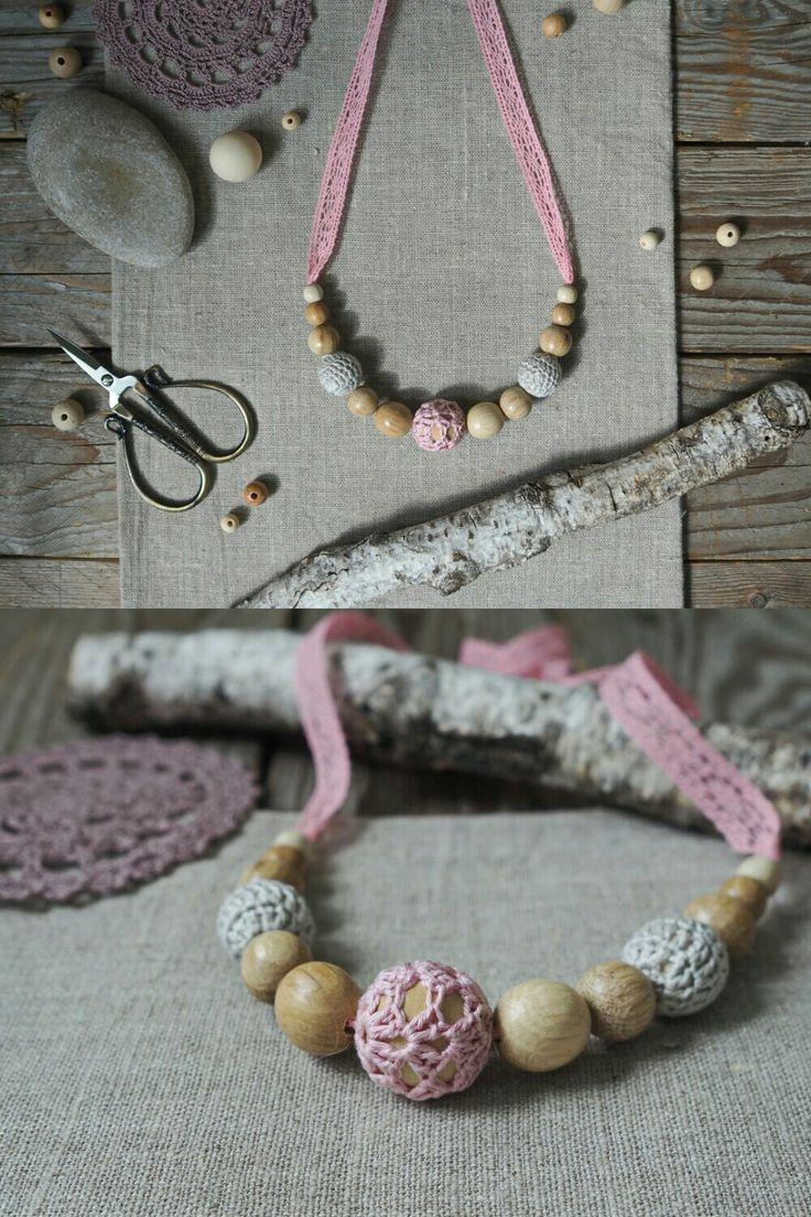Слингобусы, эко-бусы. Кормительные бусы. Для мам и малышей. Nursing necklace, crochet jewerly.