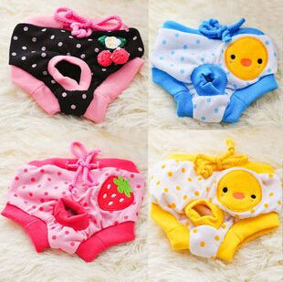 Free Shipping Female Pet Dog Puppy Sanitary Cute Short Panty Pant Diaper Underwear Physiological pants pet