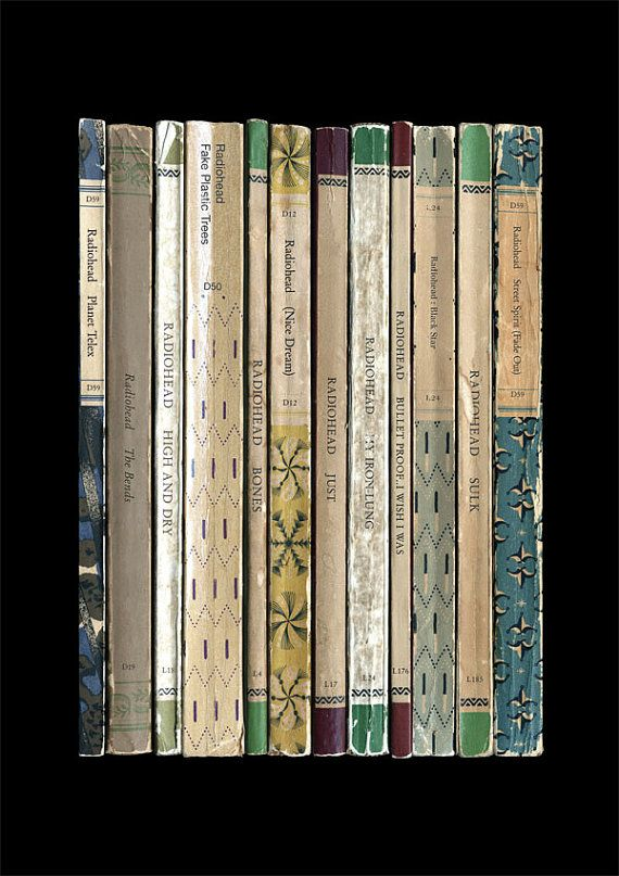 Radiohead 'The Bends' Album As Books Poster by StandardDesigns