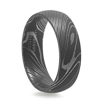 MAVERICK Men's Damascus Steel Ring – Lashbrook – Men's Wedding Band