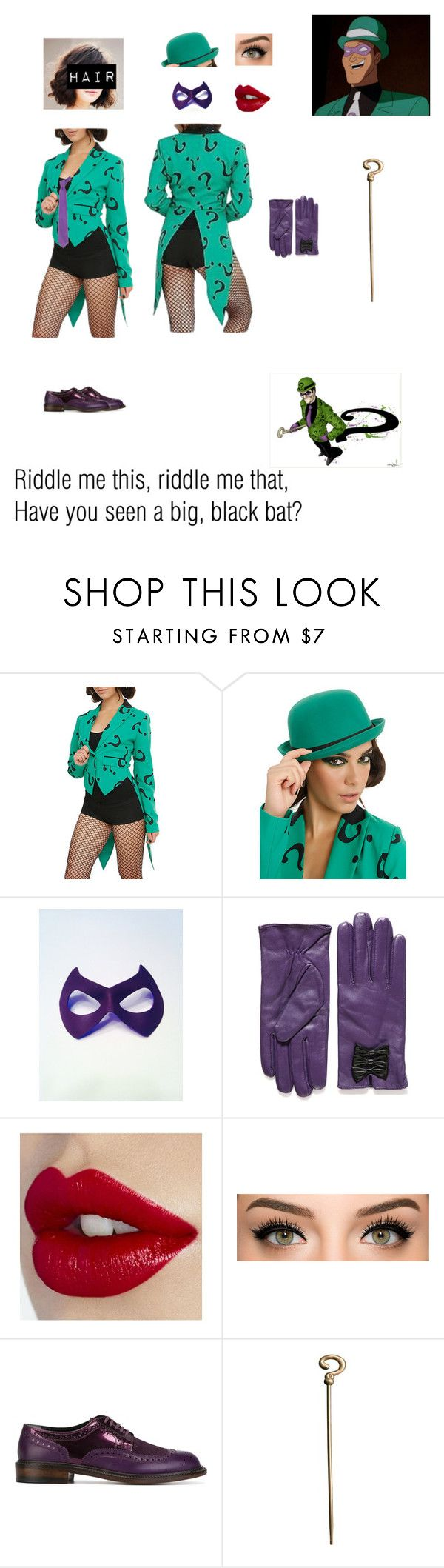 """Girl Version of the Riddler"" by nerdbucket ❤ liked on Polyvore featuring Robert Clergerie, Forzieri, women's clothing, women, female, woman, misses and juniors"