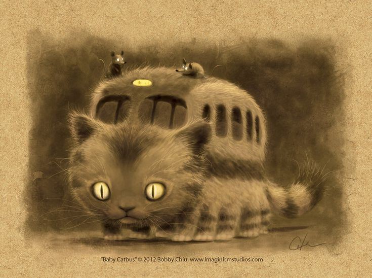 Baby Catbus by imaginism on DeviantArt
