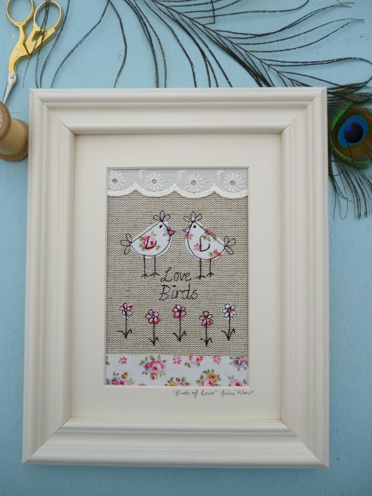 Handmade Love Birds Framed Picture with choice of frame Cath Kidston fabric gift | eBay