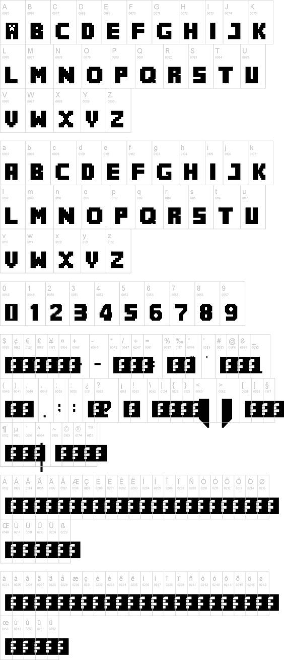"""MineCrafter- The perfect font for all Minecraft party print outs.  Seth noticed that the letters I used on his banner were """"the real Minecraft letters"""".  :)  It's the little things."""
