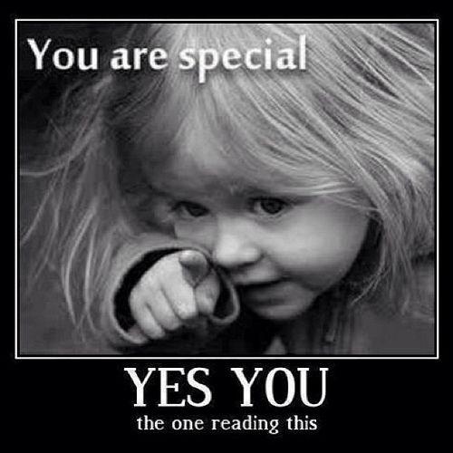 """Gaaf voor op een spiegel in de klas. """"YOU are special!"""""""
