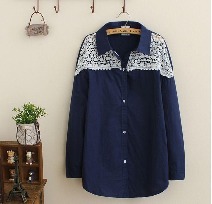 Shoulder Lace Cotton Shirt (B0072)   #caterpillar #barnard #lafond #bernardlafond #cottage glaze #groove #moda #shop #shopping #blouse #womenblouse #girlsblouse #shop