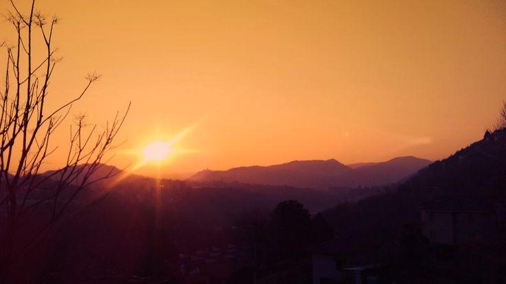 tramonto da Solzago