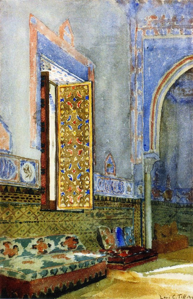 The Athenaeum - Near Eastern Interior (Louis Comfort Tiffany - No dates listed)/This looks like the harem quarters of the sultan palace in Istanbul, beautiful