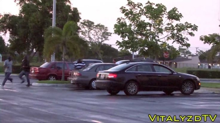 Miami Zombie Attack Prank! I cracked up when that kid threw a basketball at him. Lol.