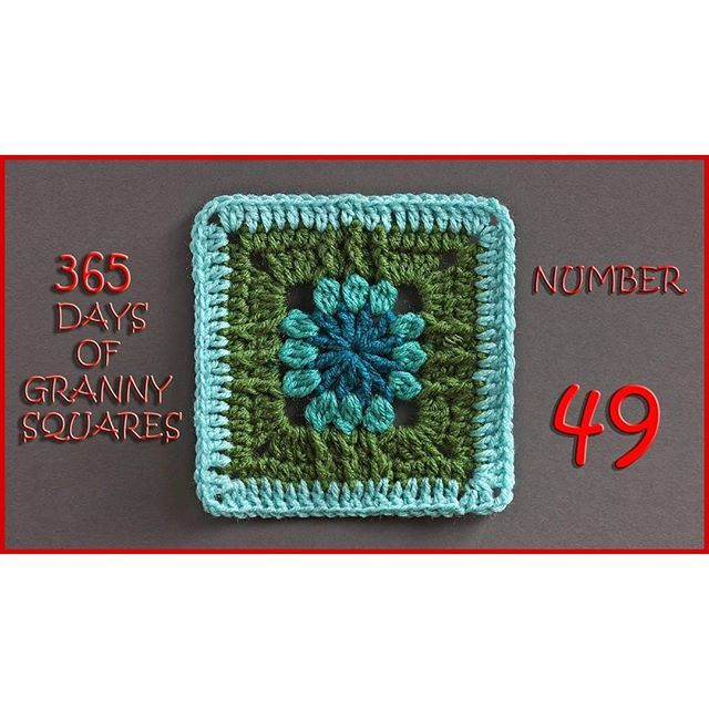 Number 49 of our 365 Days of Granny Squares is on the blog!! Check out the bottom of the blog post for links to written patterns! Enjoy! ~Nadia #crochet #crocheted #yarn #YARNutopia #imadethis #handmade #diy #crafty #yarnballs #yarnball #fiber #fancy #365DaysofGrannySquares #365days #yearlongproject #yearlong #granny #grannysquares #design #designer #redheartyarn #scrapyarn