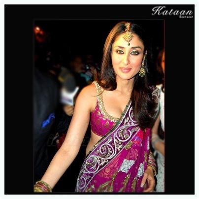 Kareena Kapoor in a Purple Saree