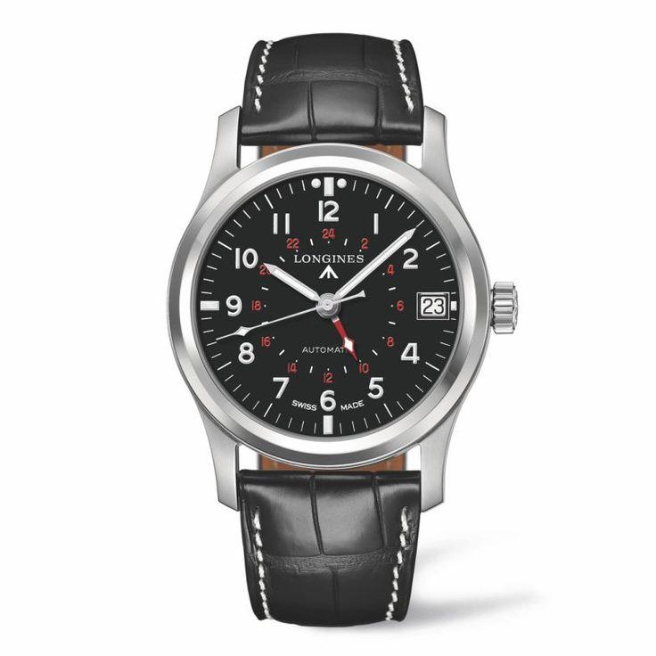 L28314532 The Longines Avigation Heritage Military Collection   Ανδρικό ελβετικό αυτόματο ρολόι LONGINES με μαύρο καντράν & δέρμα   ΤΣΑΛΔΑΡΗΣ Χαλάνδρι #avigation #military #heritage #longines
