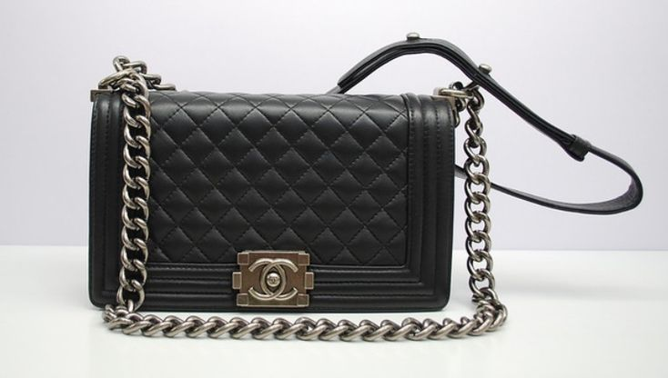 Chanel Black Boy Chanel Quilted Medium Bag  splurge! $3,800 vs. Rebecca Minkoff Love bag at $295