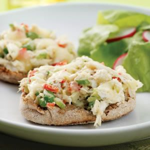 Crab Salad MeltsEating Well, English Muffins, Salad Melted, Lights Lunches, Diabetes Recipe, Crap Salad, Asparagus Recipe, Crabs Salad, Lunches Recipe
