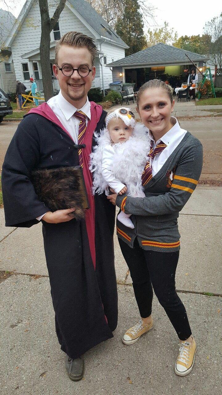 We win Halloween! Harry Potter family. homemade baby costume! #youreawizardharry