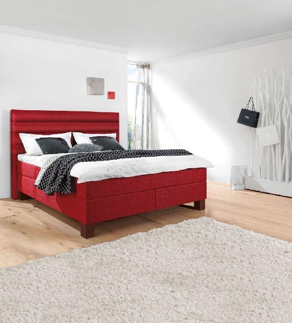 boxspringbett stoffbezug rot schlafzimmer schlafzimmerideen einrichtung - Entzuckend Schlafzimmer Schwarz Planung