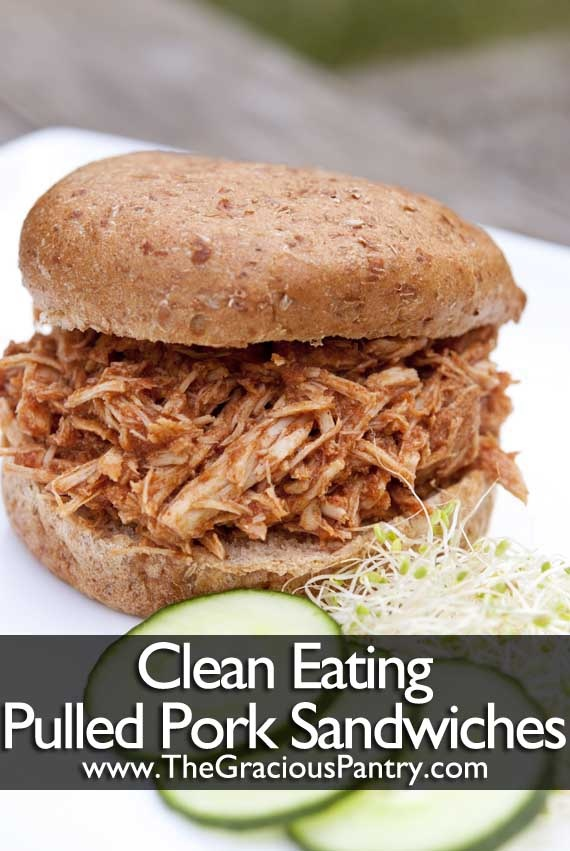 Clean Eating Slow Cooker Pulled Pork Sandwiches