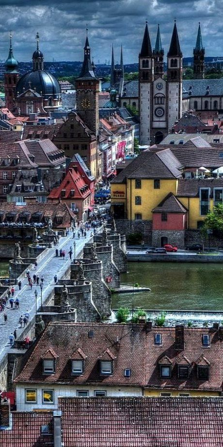 Germany Travel Inspiration - Old Main Bridge ~ Wurzburg, Bavaria, German