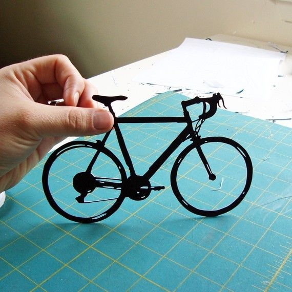 bicycle hand-cut paper art by Joe