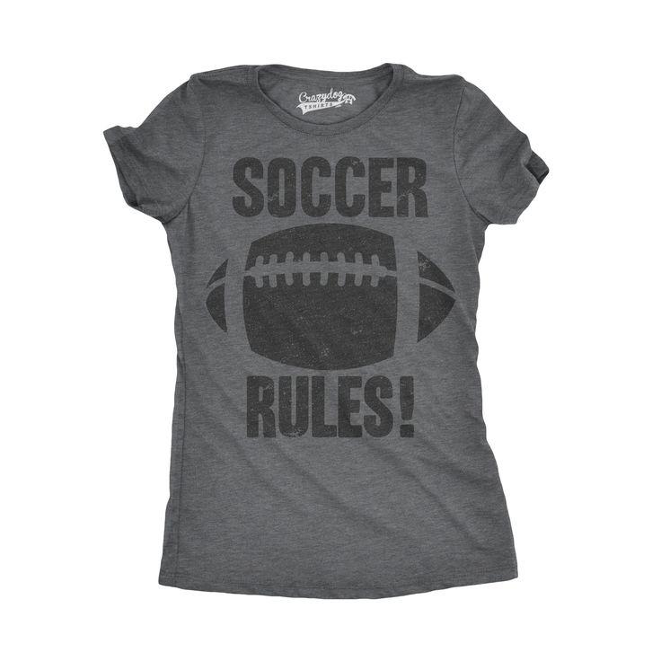 Womens Soccer Rules Funny Football European Soccer Sports Athlete T shirt