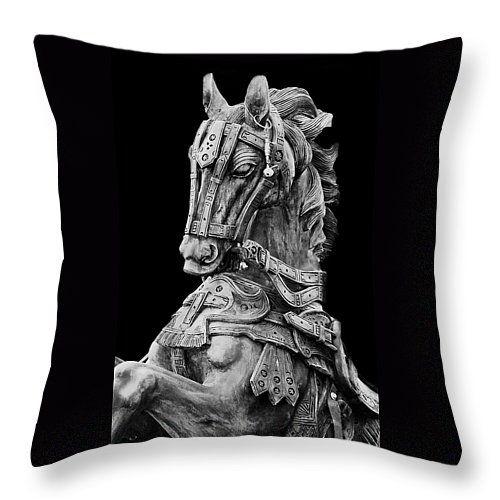 "Horse  Throw Pillow 14"" x 14"""