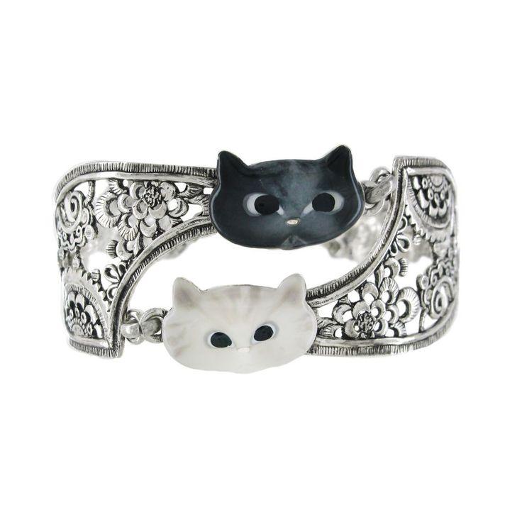 Bracelet Chat Persan Argent Multi Taratata Bijoux Fantaisie en ligne 2