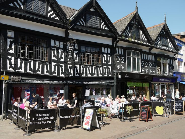 Nantwich book shop, coffee lounge and pavement cafe