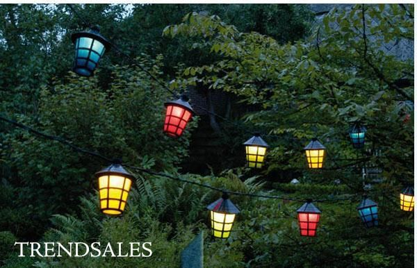 progaarden - Lanterne lyskæde med 20 lanterner - 220 v - nye