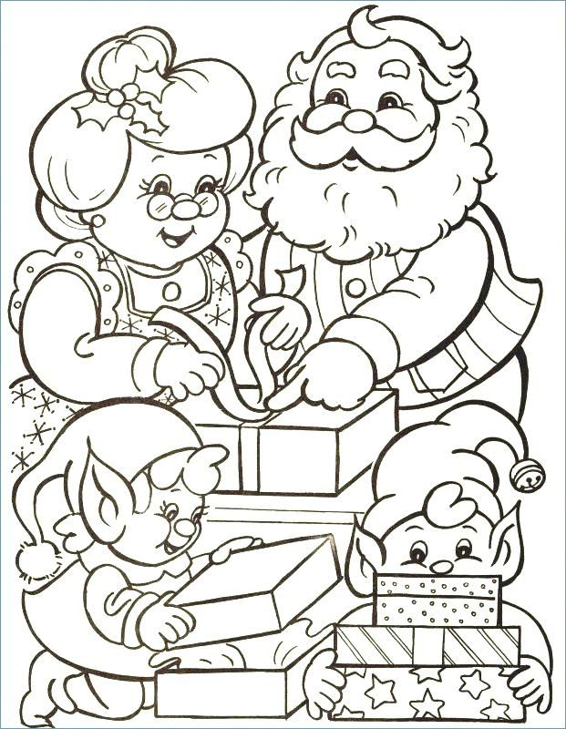 Mr And Mrs Claus Coloring Page Santa Coloring Pages, Christmas Coloring  Sheets, Printable Christmas Coloring Pages
