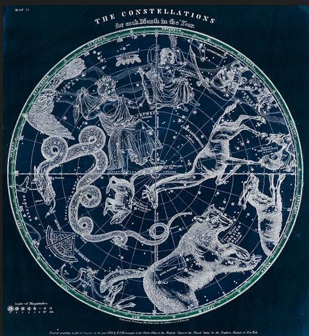 Jojo Post Star Gates Huntington Map Of The Stars Constellations Of The Northern Hemisphere