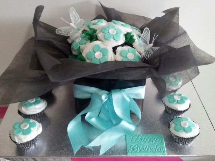 Cupcake boxed bouquet